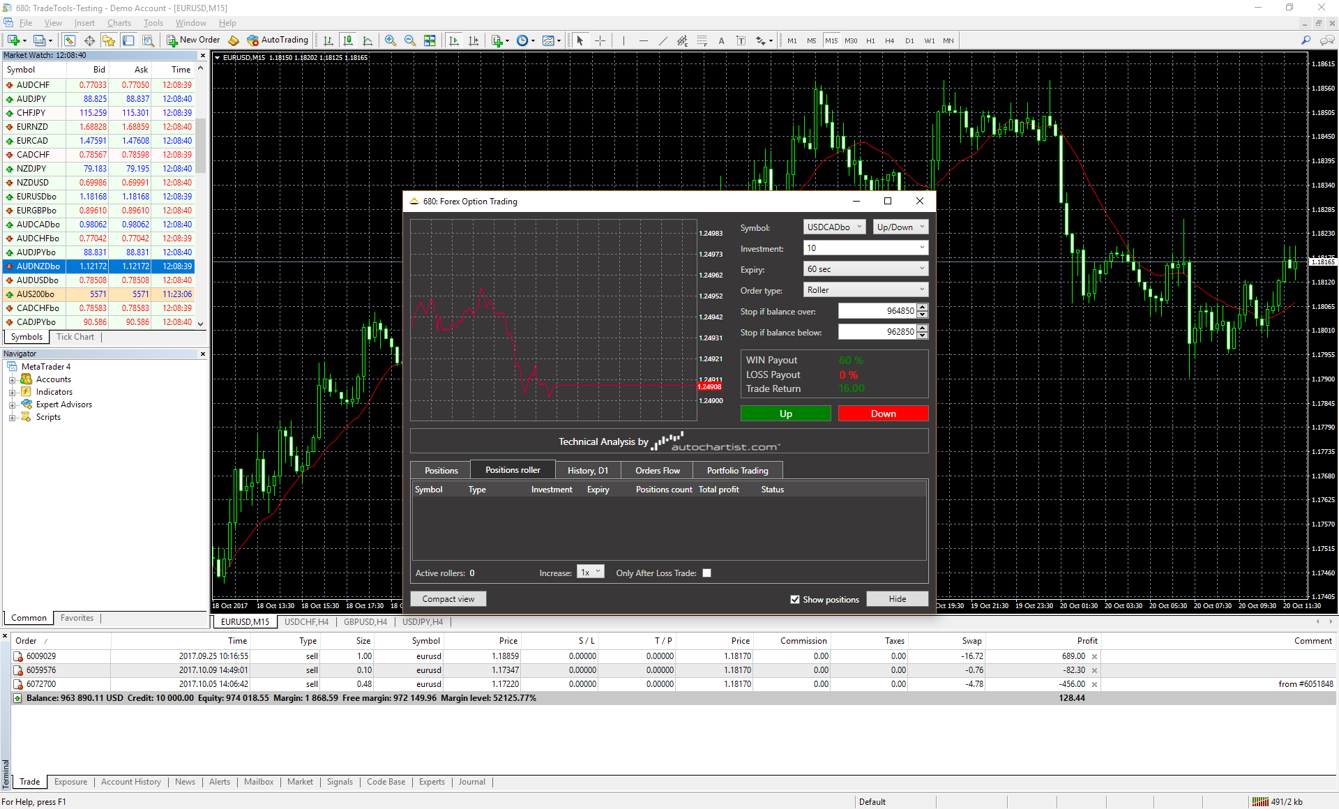 Binary options trading cryptocurrency